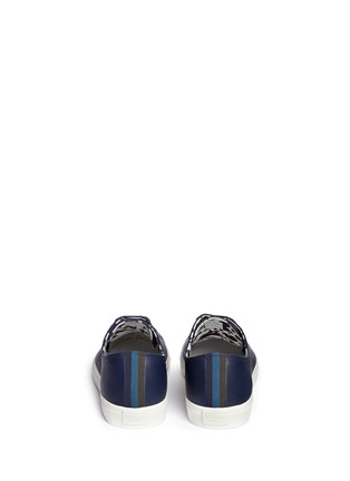 Back View - Click To Enlarge - Paul Smith - 'Indie' stripe heel leather sneakers