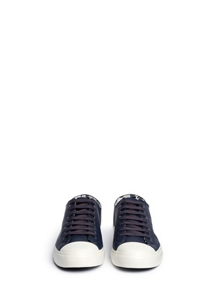 Front View - Click To Enlarge - Paul Smith - 'Indie' stripe heel leather sneakers