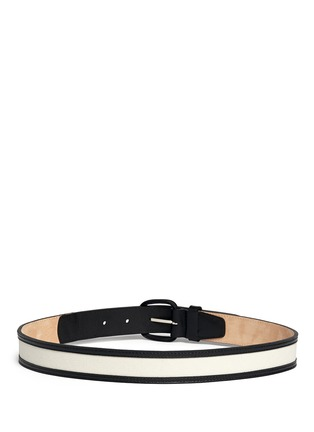 Back View - Click To Enlarge - Maison Boinet - Canvas trim leather belt