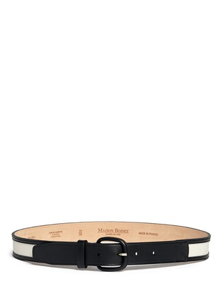 Main View - Click To Enlarge - Maison Boinet - Canvas trim leather belt