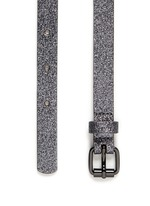 Glitter covered leather belt