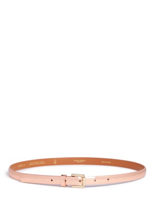 Main View - Click To Enlarge - Maison Boinet - Metallic mirror leather belt