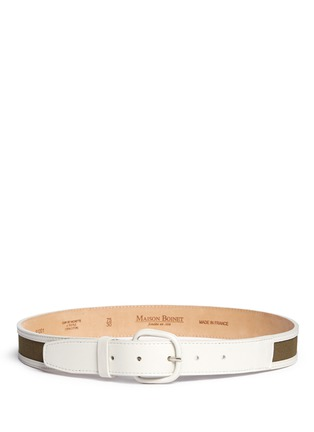 Main View - Click To Enlarge - Maison Boinet - Canvas trim leather belt