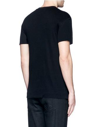 背面 - 点击放大 - AMIRI - 磨破棉混羊绒T恤