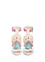 'Nereida' bead fringe embroidered mixed leather sandals