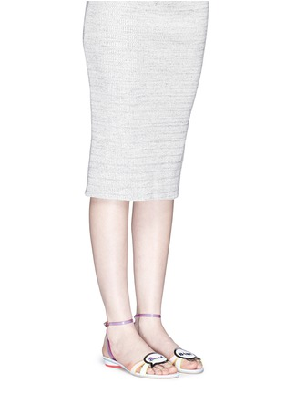 Sophia Webster-'Ellen Beach Babe' slogan patch leather sandals