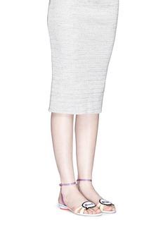 SOPHIA WEBSTER'Ellen Beach Babe' slogan patch leather sandals