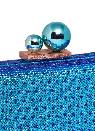 Detail View - Click To Enlarge - Sophia Webster - 'ViVi' sea life charm basketweave leather clutch