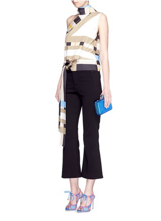 - Sophia Webster - 'ViVi' sea life charm basketweave leather clutch