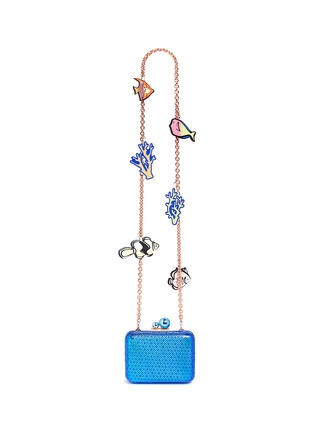 Main View - Click To Enlarge - Sophia Webster - 'ViVi' sea life charm basketweave leather clutch