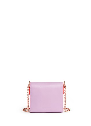 Back View - Click To Enlarge - Sophia Webster - 'Claudie' flamingo charm leather flap bag