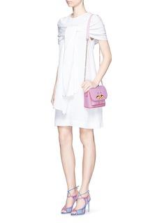 SOPHIA WEBSTER'Claudie' flamingo charm leather flap bag