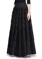 'Vienne' geometric perforated plissé pleat skirt