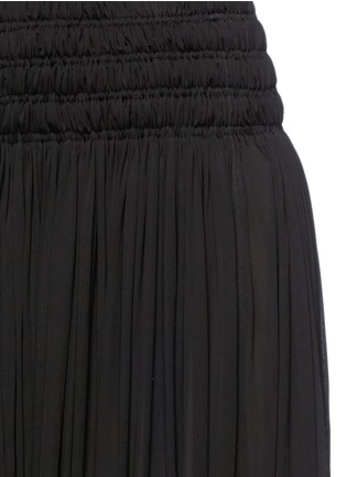 Detail View - Click To Enlarge - Alaïa - Shirred ruche maxi skirt