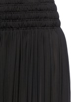 Shirred ruche maxi skirt