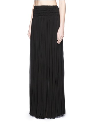 Front View - Click To Enlarge - Alaïa - Shirred ruche maxi skirt