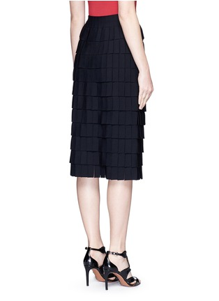 Back View - Click To Enlarge - Alaïa - 'Perse' Grecian fringe knit skirt