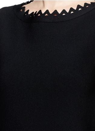 Detail View - Click To Enlarge - Alaïa - 'Vienne' geometric cutout knit top