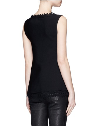 Back View - Click To Enlarge - Alaïa - 'Vienne' geometric cutout knit top
