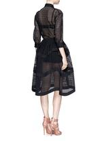 'Vienne' geometric cutout tiered shirt dress