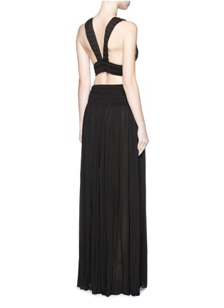 Figure View - Click To Enlarge - Alaïa - Shirred ruche strappy cropped top