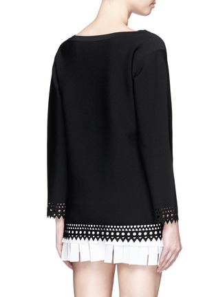 Back View - Click To Enlarge - Alaïa - 'Vienne' bateau neckline geometric cutout top