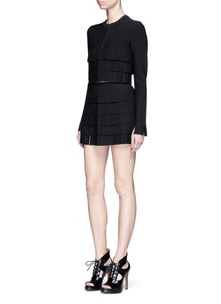 Figure View - Click To Enlarge - Alaïa - 'Perse' Grecian fringe knit cardigan