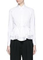'Vienne' geometric cutout plissé pleat drawstring shirt