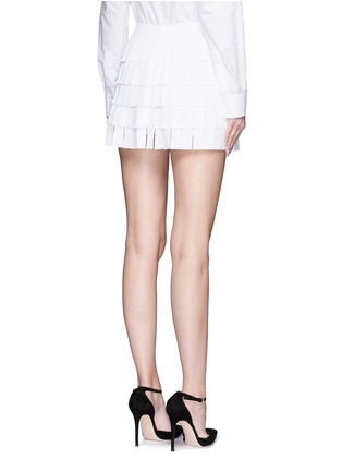 Back View - Click To Enlarge - Alaïa - 'Perse' grecian fringe knit skort