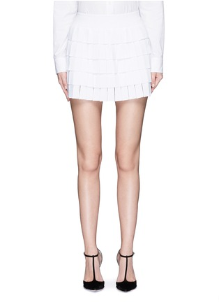 Main View - Click To Enlarge - Alaïa - 'Perse' grecian fringe knit skort