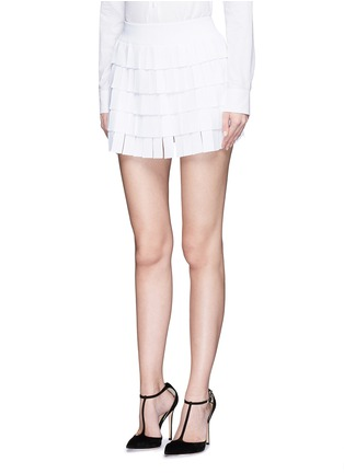Figure View - Click To Enlarge - Alaïa - 'Perse' grecian fringe knit skort