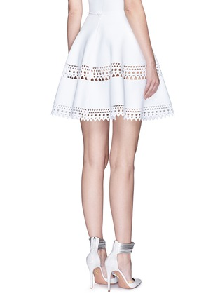 Back View - Click To Enlarge - Alaïa - 'Vienne' geometric perforated knit skirt