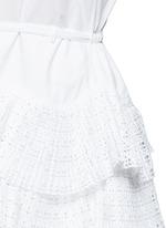 Geometric cutout plissé pleat drawstring dress