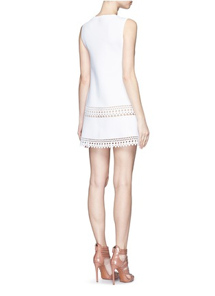 Back View - Click To Enlarge - Alaïa - 'Vienne' geometric cutout knit dress