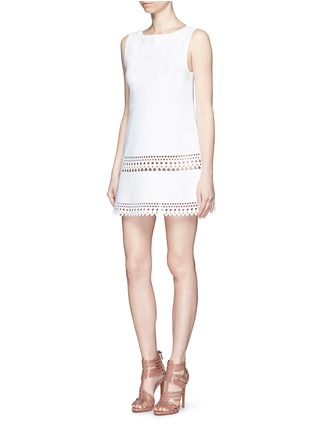 Figure View - Click To Enlarge - Alaïa - 'Vienne' geometric cutout knit dress