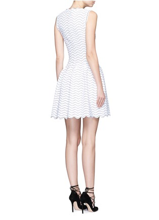 Azzedine Alaïa - 'Feline' triangle wave knit sleeveless flare dress