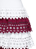 'Vienne' geometric cutout perforated knit tier dress