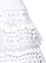 'Vienne' geometric cutout ruffle tier knit dress