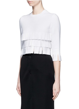 Front View - Click To Enlarge - Alaïa - 'Perse' Grecian fringe knit top