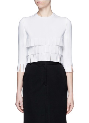 Main View - Click To Enlarge - Alaïa - 'Perse' Grecian fringe knit top