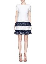 'Vienne' geometric cutout tiered knit dress