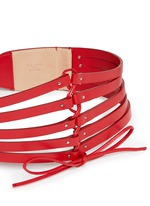 Multi strap wide leather belt