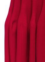 Piqué knit fishtail skirt