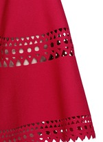 'Vienne' geometric cutout perforated knit dress