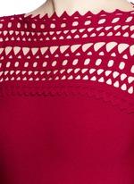 'Vienne' peplum hem geometric cutout knit dress
