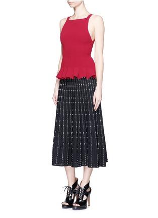 模特儿示范图 - 点击放大 - ALAÏA - 褶裥衣摆编织背心