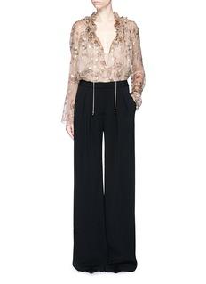CHLOÉFlower fil coupé silk crepon blouse