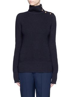 CHLOÉButton turtleneck virgin wool sweater