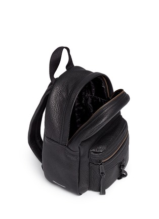 Detail View - Click To Enlarge - Rebecca Minkoff - 'Mini M.A.B.' pebbled leather backpack