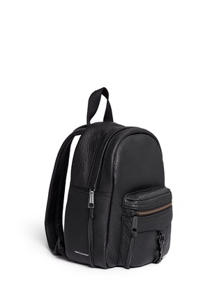 Front View - Click To Enlarge - Rebecca Minkoff - 'Mini M.A.B.' pebbled leather backpack